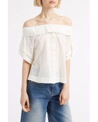 Sea - White Off The Shoulder Top - Lyst