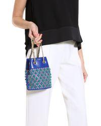 Elie Saab - Blue Bucket Bag - Lyst