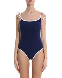 Solid & Striped - Blue Poppy Swimsuit - Lyst