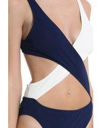 Solid & Striped - Blue Poppy Wrap Swimsuit - Lyst