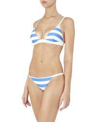 Solid & Striped - Blue Morgan Bikini Top - Lyst