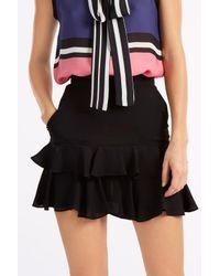 Elie Saab - Black Ruffled Mini Culottes - Lyst