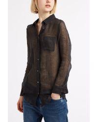 Solid & Striped - Black Boyfriend Shirt - Lyst