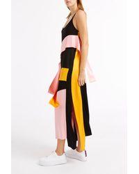 MSGM - Black Strappy Layer Dress - Lyst