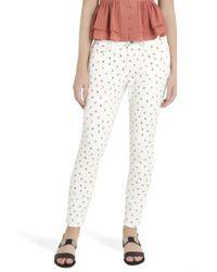 Current/Elliott - Black Rose Ditsy Jeans - Lyst