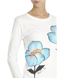 Paul & Joe - White Floral T-shirt - Lyst