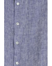 Frescobol Carioca - Blue Regular Linen Shirt - Lyst