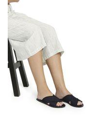 Ancient Greek Sandals - Blue Thais Denim Sandals - Lyst