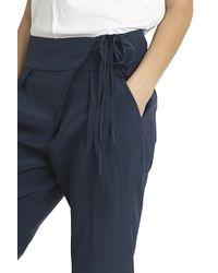 Tibi - Blue Wrap Silk Trousers - Lyst