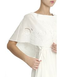 Tibi - White Embroided Dress - Lyst