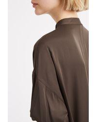 Helmut Lang - Green Silk Open Back Shirt - Lyst