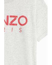 KENZO - Gray Logo T-shirt for Men - Lyst