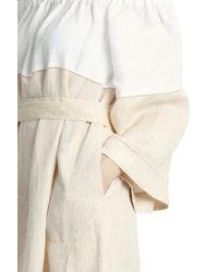 Lisa Marie Fernandez - Orange Off Shoulder Linen Dress - Lyst