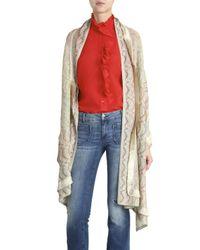 Missoni - Multicolor Open-front Zigzag-intarsia Wool-blend Cardigan - Lyst