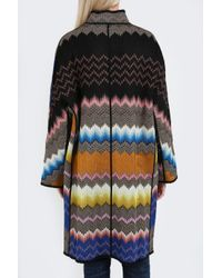 Missoni - Multicolor Zigzag Snake Coat - Lyst