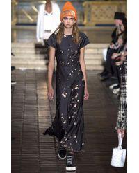 Alexander Wang - Black T-shirt Splatter Gown - Lyst