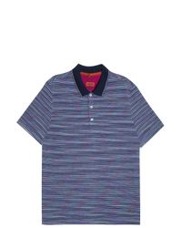 Missoni - Blue Striped Polo T-shirt for Men - Lyst