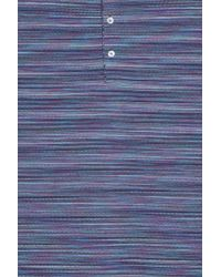 Missoni - Blue Striped Polo T-shirt for Men - Lyst