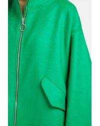 Marques'Almeida - Green Oversize Wool Coat - Lyst