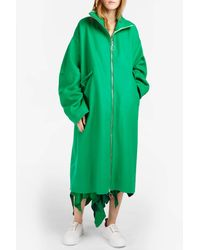 Marques'Almeida - Green Oversize Wool Coat - Lyst