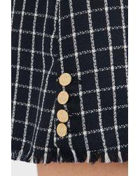 Thom Browne - Multicolor Checkered Silk Mini Skirt - Lyst