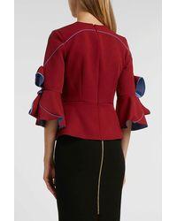 Roksanda - Red Kemi Crepe Bow Sleeve Blouse - Lyst