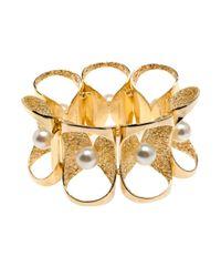 Lara Bohinc | Metallic Pearl Petal Bracelet | Lyst