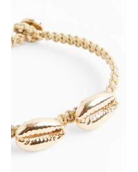 Luis Morais - Metallic Yellow-gold Four Shell Macramé Bracelet, Os - Lyst