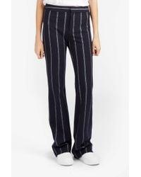 10 Crosby Derek Lam - Blue Stripe Flannel Flare Trouser - Lyst
