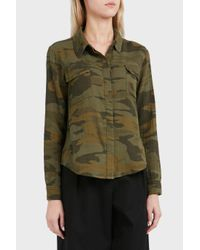 Splendid - Green Double Pocket Cotton Shirt - Lyst
