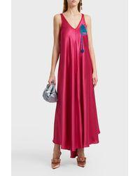 Marco De Vincenzo - Embroidered Pocket Long Dress - Lyst
