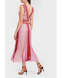 Missoni - Pink Metallic Ribbed-knit Dress - Lyst