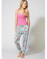 Boux Avenue - Multicolor Minky Vintage Floral Fleece Pants - Lyst