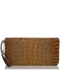 Brahmin | Multicolor Toasted Almond Collection Skyler Croco-embossed Travel Wallet | Lyst