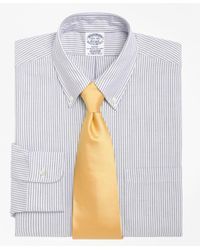 Brooks Brothers | Blue Regent Fit Stripe Dress Shirt for Men | Lyst