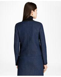 Brooks Brothers - Blue Soutache-trimmed Denim Jacket - Lyst