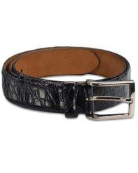 Brooks Brothers   Black Alligator Dress Belt for Men   Lyst