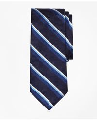 Brooks Brothers | Blue Sidewheeler Double Stripe Tie for Men | Lyst