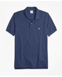 Brooks Brothers - Blue Slim Fit Supima® Cotton Performance Polo Shirt for Men - Lyst