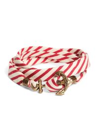 Brooks Brothers | Kiel James Patrick Red And White Seersucker Lanyard Hitch Cord Bracelet for Men | Lyst