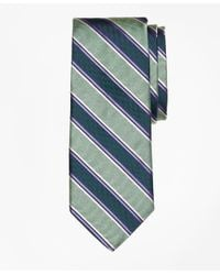 Brooks Brothers | Green Melange Bold Stripe Tie for Men | Lyst