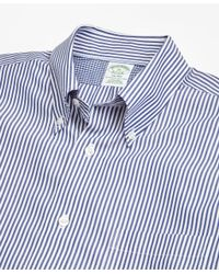 Brooks Brothers - Blue Non-iron Milano Fit Bengal Stripe Sport Shirt for Men - Lyst
