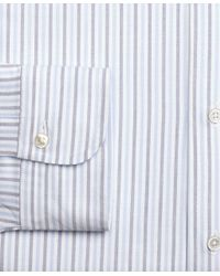 Brooks Brothers - Blue Milano Fit Original Polo® Button-down Alternating Bengal Stripe Dress Shirt for Men - Lyst