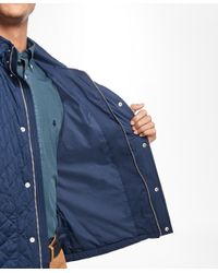 Brooks Brothers - Blue Diamond-quilted Vest for Men - Lyst
