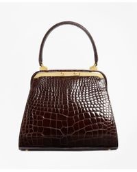 Brooks Brothers | Brown Alligator Handbag | Lyst