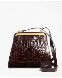 Brooks Brothers - Brown Alligator Handbag - Lyst