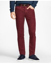 Brooks Brothers - Multicolor Garment-dyed 15-wale Corduroy Pants for Men - Lyst