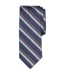 Brooks Brothers | Blue Horsebit Stripe Tie for Men | Lyst