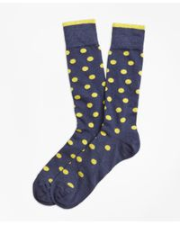 Brooks Brothers - Blue Polka-dot Crew Socks for Men - Lyst