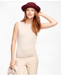 Brooks Brothers - Natural Cashmere Sleeveless Shell - Lyst